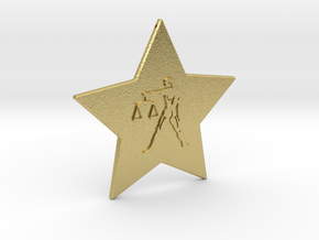 star-libra in Natural Brass