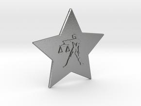star-libra in Natural Silver