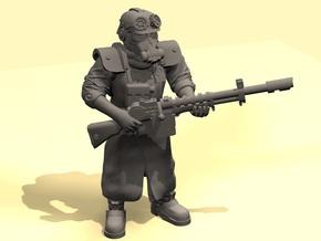 28mm dieselpunk soldier test in Smoothest Fine Detail Plastic