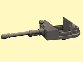 28mm open topped turret Taman auto cannon in White Processed Versatile Plastic