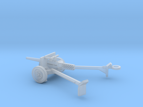 1/100 Scale M3 37mm Anti Tank Gun Deployed in Smooth Fine Detail Plastic