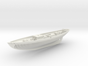Schooner Zodiac Half Model in White Natural Versatile Plastic