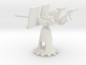 1/72 Scale 20mm Gun Mount Mk6 in White Natural Versatile Plastic