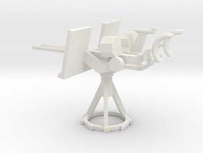 1/72 Scale 20mm Gun Mount Mk24 in White Natural Versatile Plastic