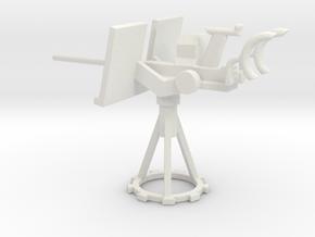 1/87 Scale 20mm Gun Mount Mk10 in White Natural Versatile Plastic