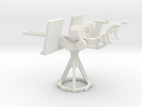 1/87 Scale 20mm Gun Mount Mk24 in White Natural Versatile Plastic