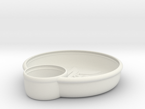 Olives Dish in White Natural Versatile Plastic