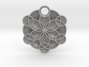 Geoflower Pendant in Aluminum