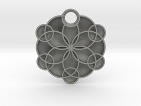 Geoflower Pendant in Gray PA12