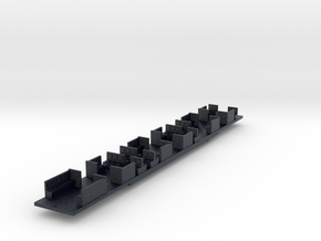 NHDC - VR Hitachi D Car Chassis - N Scale in Black Professional Plastic