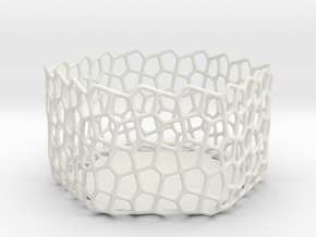 Penta Tealight Holder in White Natural Versatile Plastic