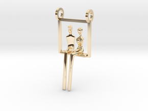 You and Me - without chain in 14k Gold Plated Brass