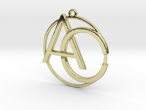 A&C Monogram in 18k Gold Plated Brass
