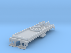N ATSF 12K Tender Chassis in Smooth Fine Detail Plastic