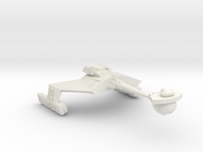 3125 Scale Romulan KRM Mauler Cruiser (Smooth) in White Natural Versatile Plastic