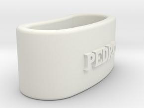 PEDRO 3D Napkin Ring with lauburu in White Natural Versatile Plastic