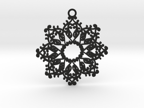 Ornamental pendant no.4 in Black Natural Versatile Plastic
