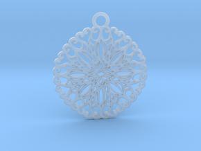 Ornamental pendant no.5 in Smooth Fine Detail Plastic