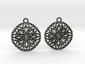 Ornamental earrings no.5 in Black Natural Versatile Plastic