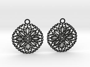Ornamental earrings no.5 in Black Natural Versatile Plastic