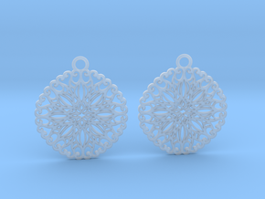 Ornamental earrings no.5 in Smooth Fine Detail Plastic