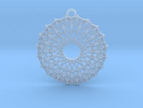 Ornamental pendant no.6 in Smooth Fine Detail Plastic