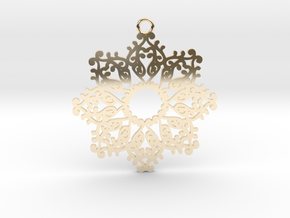 Ornamental pendant no.4 in 14k Gold Plated Brass