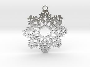 Ornamental pendant no.4 in Natural Silver