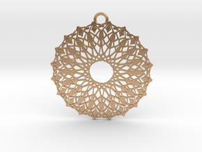 Ornamental pendant no.6 in Natural Bronze
