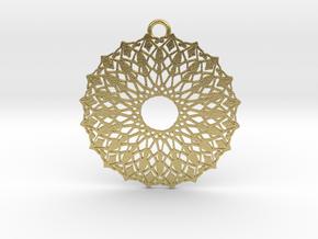 Ornamental pendant no.6 in Natural Brass