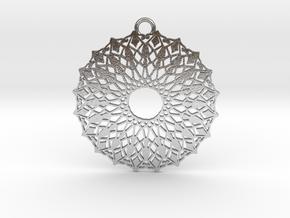 Ornamental pendant no.6 in Natural Silver
