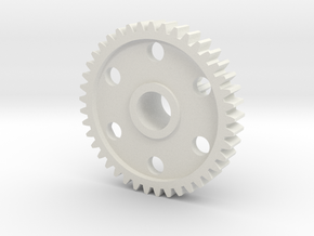 OT-27 Center (Cluster) Gear - Kyosho Optima, Javel in White Natural Versatile Plastic