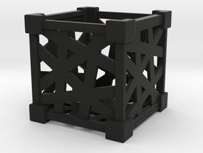 遺物の空箱を再利用した物入れ(完全なファンアイテム) in Black Natural Versatile Plastic