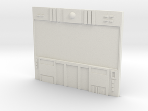 HO Scale Small Video Wall in White Natural Versatile Plastic