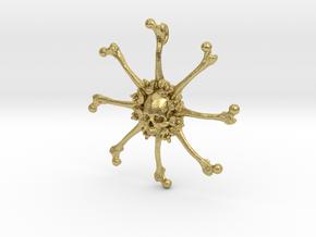 Vehmic Bone Pendant in Natural Brass