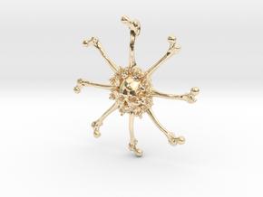 Vehmic Bone Pendant in 14k Gold Plated Brass