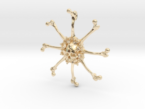 Vehmic Bone Pendant in 14K Yellow Gold
