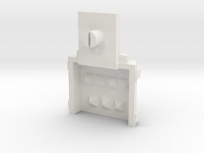 Hololens_Repair_B_with_Pin in White Natural Versatile Plastic