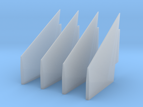 1:96 Scale Saturn V S-IC Fins in Smooth Fine Detail Plastic