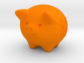 pig in Orange Processed Versatile Plastic
