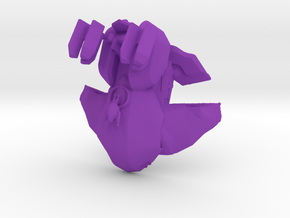 Anti-Aircraft Wraith Hover Tank  in Purple Processed Versatile Plastic: 6mm