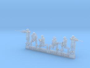 Scifi Marine Sniper Sprue in Smooth Fine Detail Plastic: 6mm