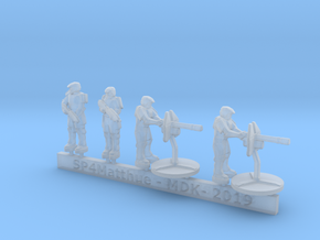 Scif Marine Heavy Support Sprue  in Smooth Fine Detail Plastic: 6mm