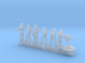 Scifi Marine Leader and Heavy Support sprue in Smooth Fine Detail Plastic: 15mm