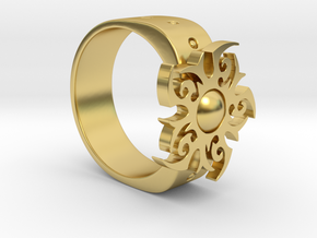 Star Ring in Polished Brass