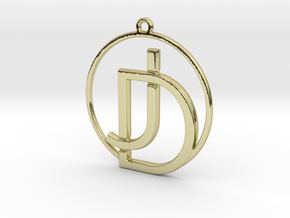 J&D Monogram in 18k Gold Plated Brass