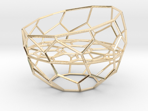 Wire Tealight Holder in 14K Yellow Gold