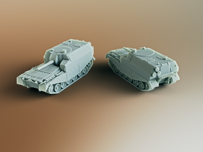 FV3805 Centurion SPG Artillery Scale: 1:200 in Smooth Fine Detail Plastic