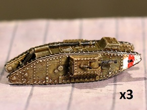 1/220 Mk.IV Male tank in Smooth Fine Detail Plastic