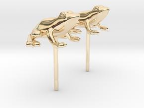 Frog Earrings in 14K Yellow Gold